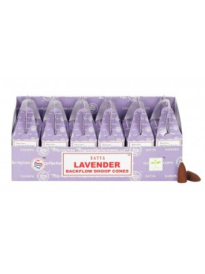 Wholesale Satya Backflow Dhoop Cones-Lavender