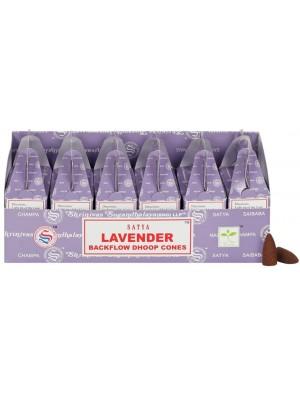 Wholesale Satya Backflow Dhoop Cones-Lavender