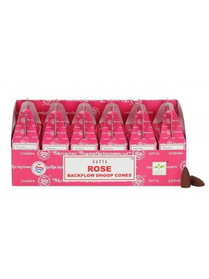 Wholesale Satya Backflow Dhoop Cones-Rose
