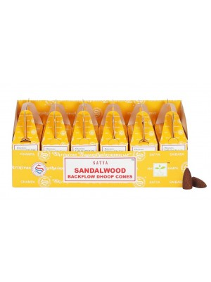 Wholesale Satya Backflow Dhoop Cones-Sandalwood