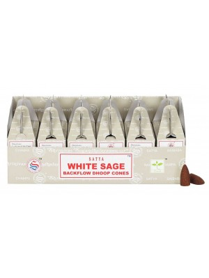 Wholesale Satya Backflow Dhoop Cones-White Sage