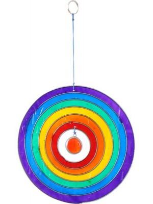 Wholesale Circle rainbow Suncatcher - 15cm
