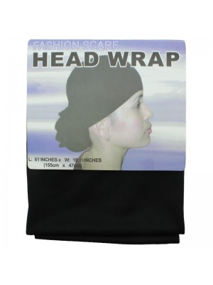 Scarf Head Wrap - Black