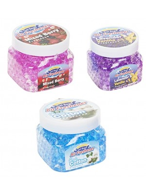 Scented Gel Bead Square Container With Lid - 3 Assorted Fragrances