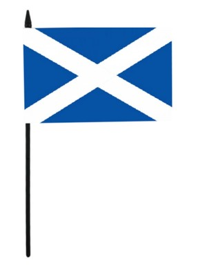"St. Andrew's Cross Scotland  Hand Flag - 6"" x 4"""