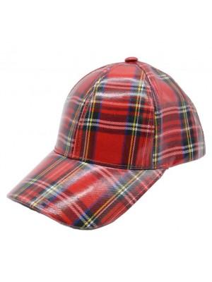 Scottish Tartan Print Adjustable Baseball Cap