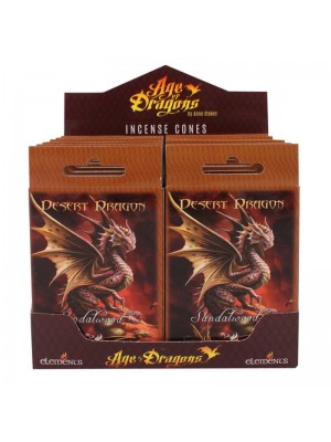 Wholesale Desert Dragon Anne Stokes Incense Cones - 12 Packs