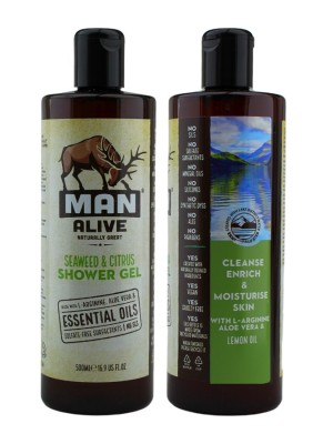Wholesale Man Alive Shower Gel For Mens - Seaweed & Citrus