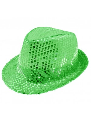 Wholesale Sequin Trilby - Green