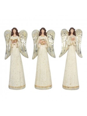Set of Small Angel Figurines - 13cm