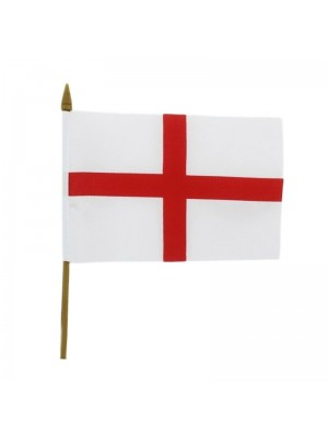 """Wholesale St. George's Cross Hand Flag Small - 6"""" x 4"""""""