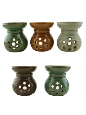 Wholesale Shiny & Matte Look Assorted Colours Oil Burner - 8cm