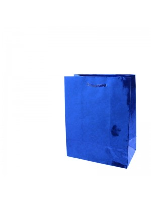 Shiny Blue Gift Bags - Small (11.5cm x 14.5cm x 6.5cm)