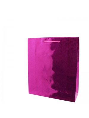 Shiny Fuchsia Pink Gift Bags - Small (18cm x 21cm x 7.5cm)