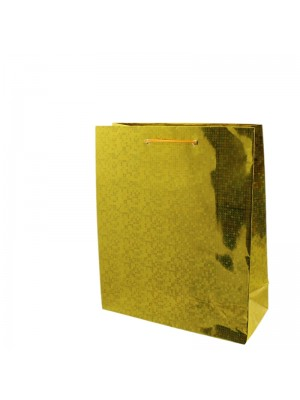 Shiny Gold Gift Bags - Small (18cm x 21cm x 7.5cm)