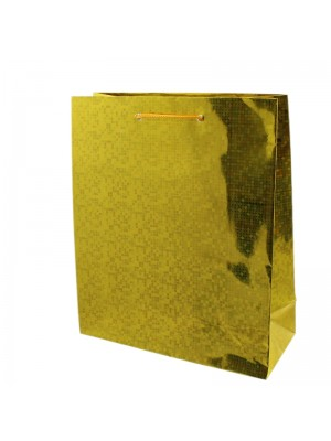 Shiny Gold Gift Bags - Small (27cm x 23cm x 8cm)