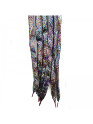 Shiny Lurex Multicoloured Shoelaces