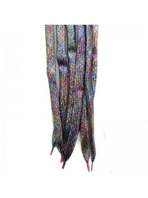 Shiny Lurex Multicoloured Shoelaces