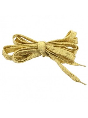 Shiny Lurex Shoelaces - Gold