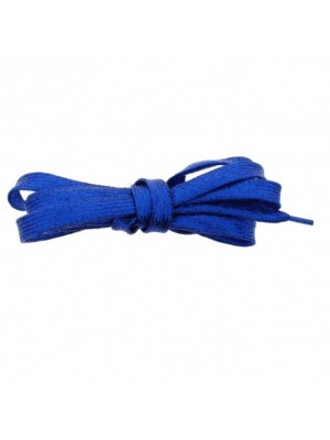 Shiny Lurex Shoelaces - Royal Blue