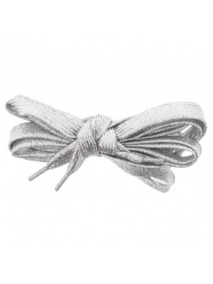 Shiny Lurex Shoelaces - Silver