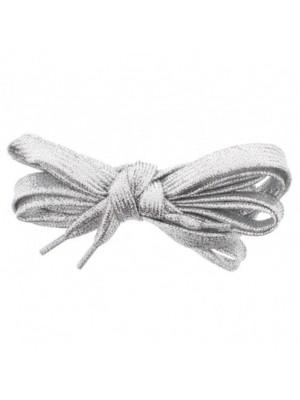 Shiny Lurex Shoelaces - Silver
