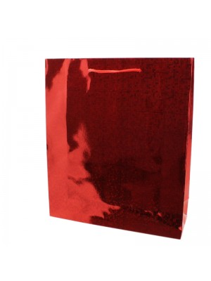 Shiny Red Gift Bags - Medium (27cm x 23cm x 8cm)