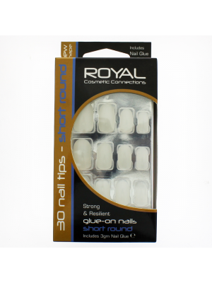 Royal Cosmetics 'Short Round' 40 Glue-on Nail Tips