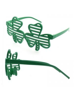 Shutter Glasses - Clover Leaf Design (Green)