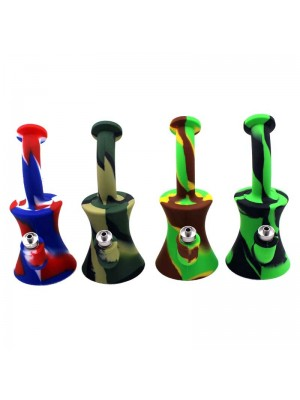 Wholesale Mini Silicone Smoking Bong - 6.5 inch
