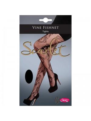 Silky's Scarlet Vine Fishnet Tights