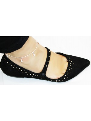 Heels Design With Diamante Anklets - Silver