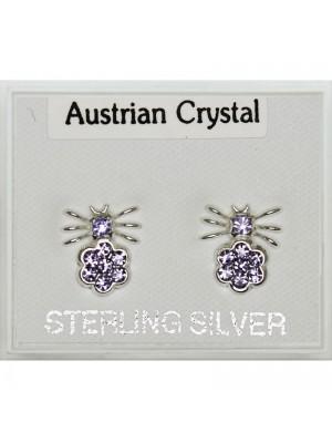 Silver Spider Austrian Studs - Asst Colours 6mm