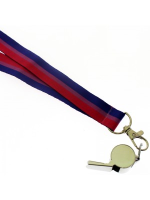 Wholesale Silver Whistle With Lanyard - Bisexual Colours