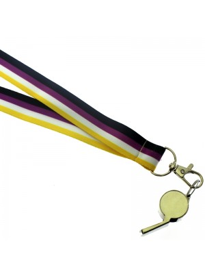 Wholesale Silver Whistle With Lanyard - Non-Binary Colours