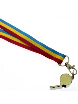 Wholesale Silver Whistle With Lanyard - Pansexual Colours