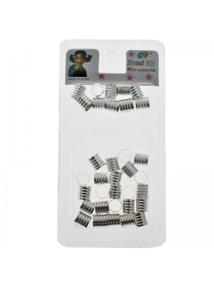 Silver Hair Braiding Beads