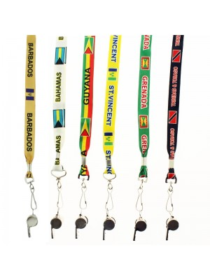 Silver Whistle With Lanyard - Assorted Designs