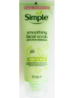Wholesale Simple Smoothing Facial Scrub With Rice Granules-75ml