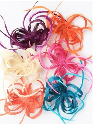 Sinamay Fascinator On a Clip & Brooch Pin - Assorted Colours