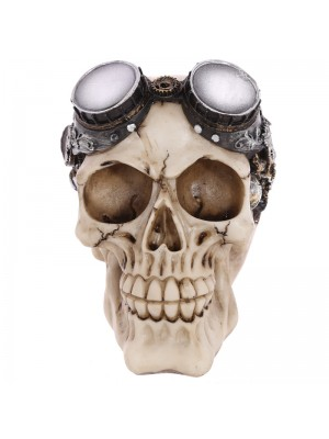 Steam Punk Style Skull Decoration with Goggles