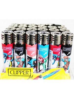 Wholesale Clipper Jet Refillable Lighter-Skating(Assorted design)