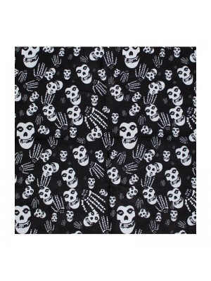 Skeleton face and hand Bandana
