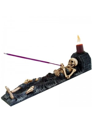 Skeleton Incense Holder Ashes to Ashes 27cm