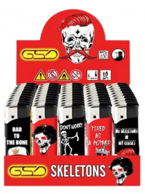 """Wholesale GSD Electronic """"Skeletons"""" Design Refillable Lighters"""