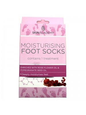 Skin Academy Moisturising Foot Socks - Rose Flower & Pomegranate