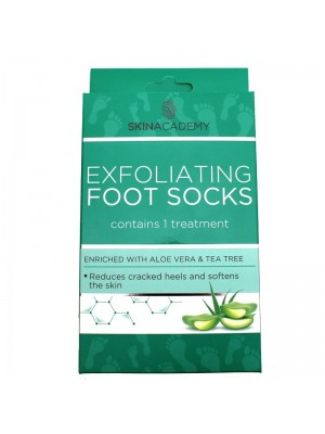 Skin Academy Moisturising Foot Socks - Aloe Vera & Tea Tree