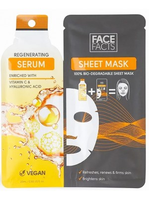 Skin Academy Regenerating Serum Sheet Mask - Vitamin C & Hyaluronic Acid