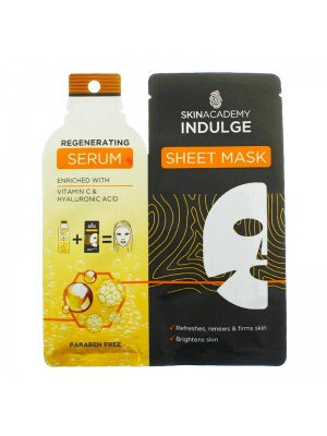 Wholesale Skin Academy Indulge Regenerating Serum Sheet Mask