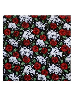 Skull & Roses Bandana
